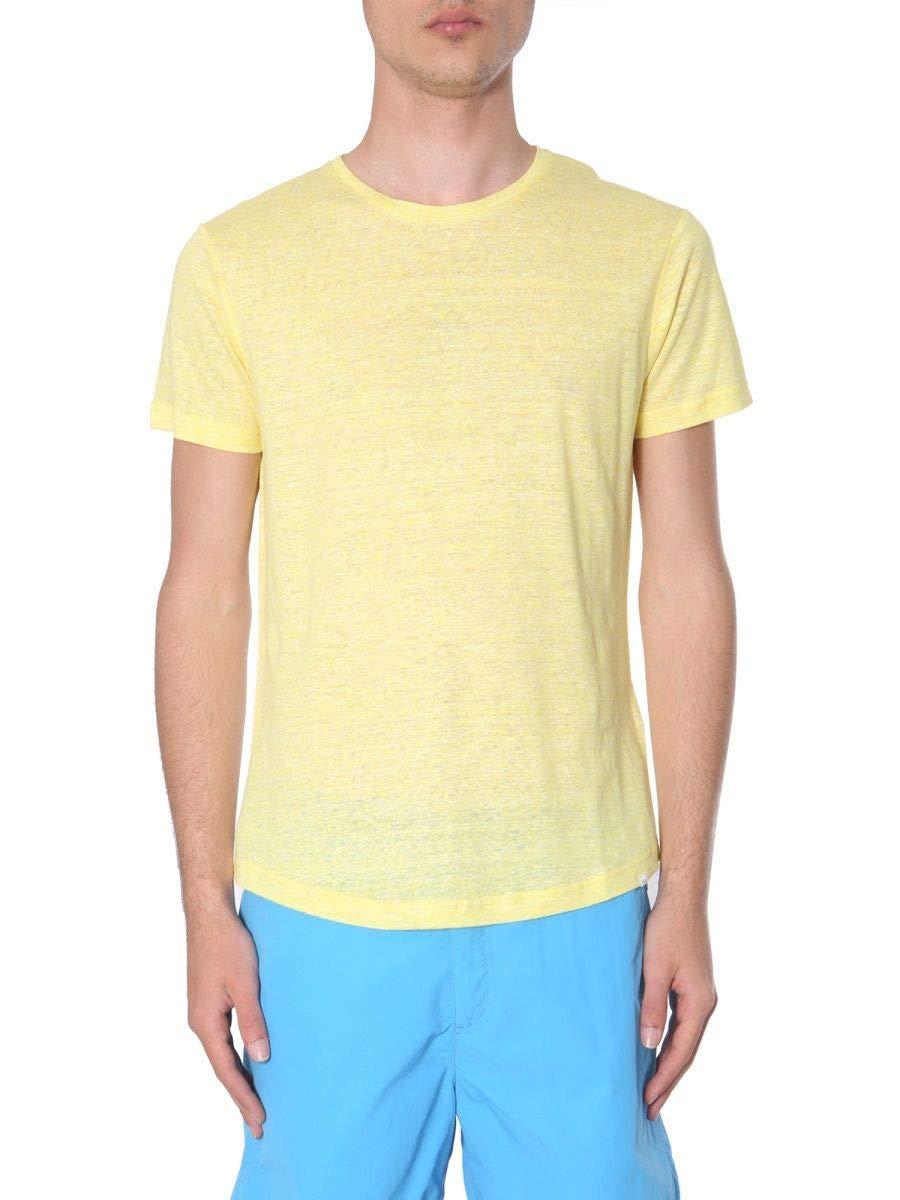 Orlebar Brown Men's Ob26927829blazingyellow Yellow Linen T-Shirt