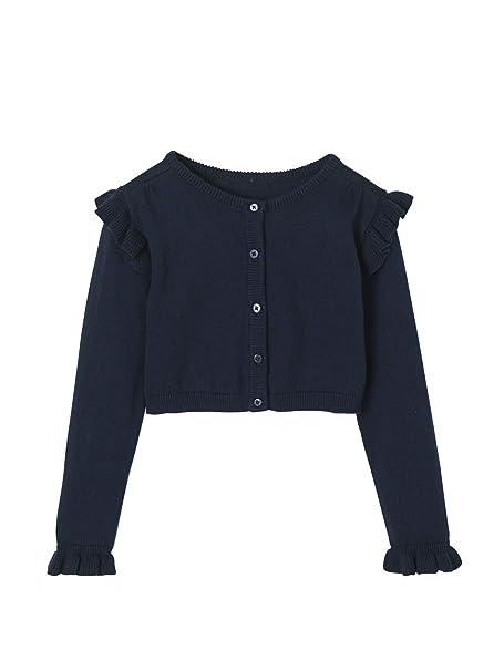 más vendido original de costura caliente Códigos promocionales VERTBAUDET Chaqueta de Punto Corta para niña Azul Oscuro ...