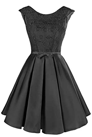 d5fed752e41 nboba Women Short Cocktail Dresses Cap Sleeve Knee Length Puffy Skirt Semi  Formal Gown Party Banquet