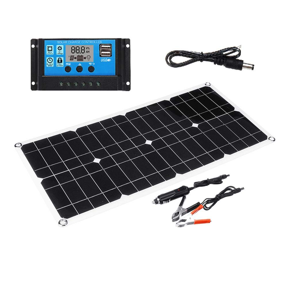 Traveling and More Solar Module Solar Panel 40W // 10A with Controller Car Yacht RV Lamp Charging Ideal for Outdoor Cycling Hiking Camping