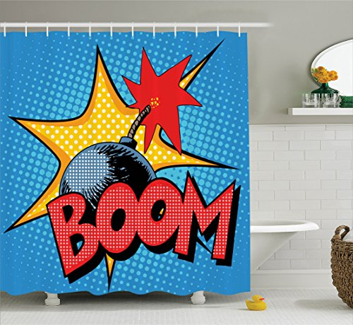 Retro Boom Bomp with Flame