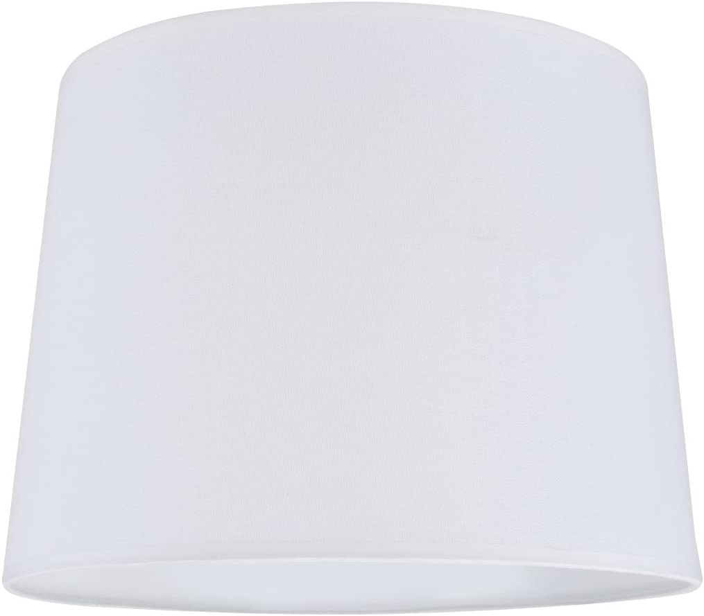 Aspen Creative 32020 Transitional Hardback Empire Shape Spider Construction Lamp Shade in White, 16 wide 14 x 16 x 12