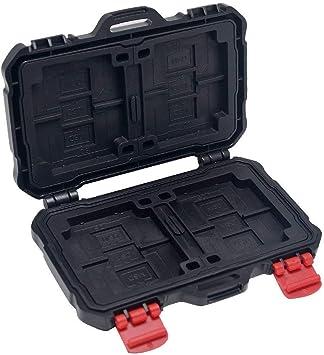 Mcoplus KH10 - Estuche para tarjetas de memoria CF, tarjetas MicroSD y tarjeta SD (resistente al agua, a prueba de golpes, color negro): Amazon.es: Electrónica