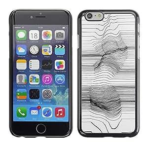 For Apple iPhone 6(4.7 inches) Case , Art Lines Abstract Painting Girl - Diseño Patrón Teléfono Caso Cubierta Case Bumper Duro Protección Case Cover Funda