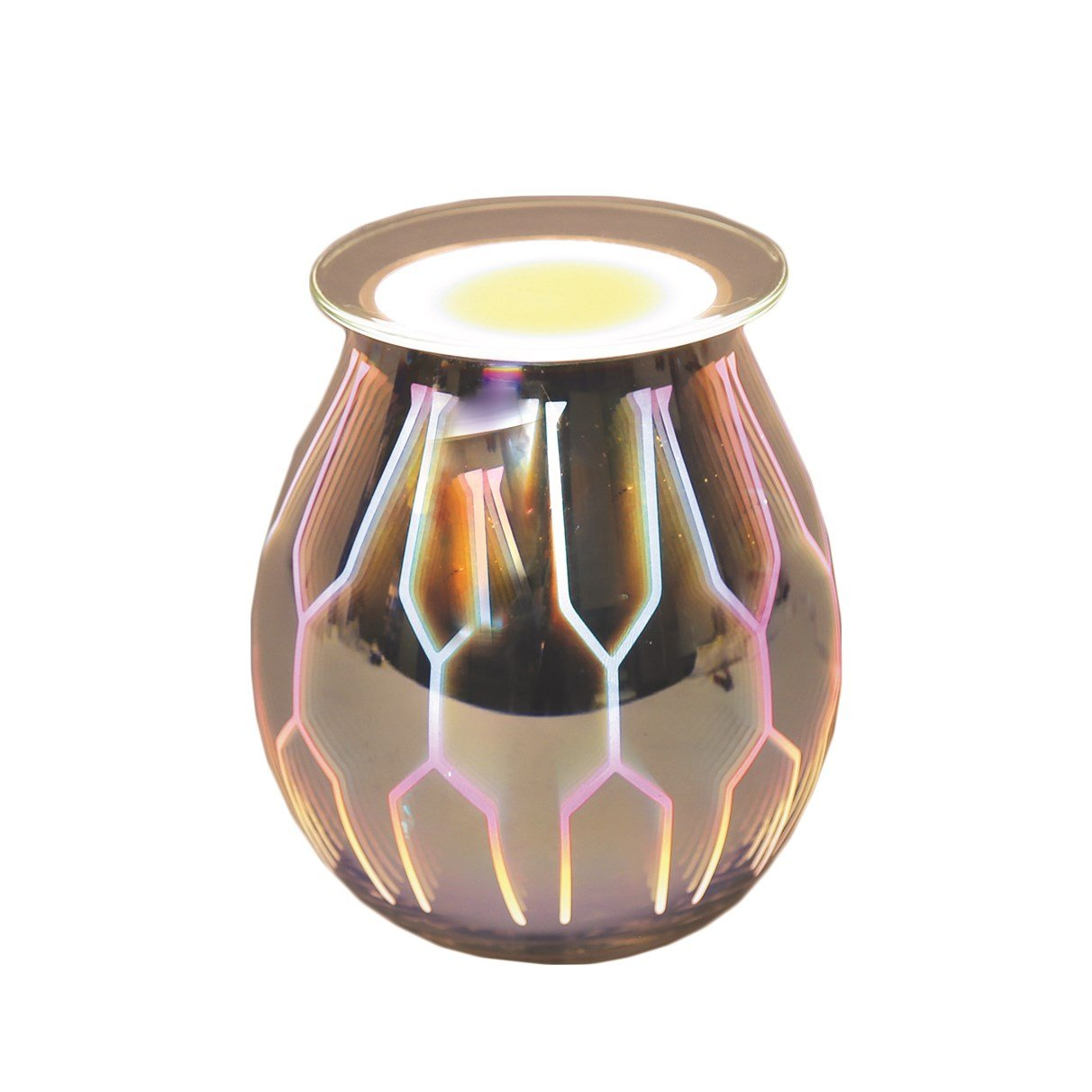 Aroma Accessories 3D Design Electric Wax Melt Burner Lamp Scented Tart Fragrance Aroma Warmer 14 centimetres
