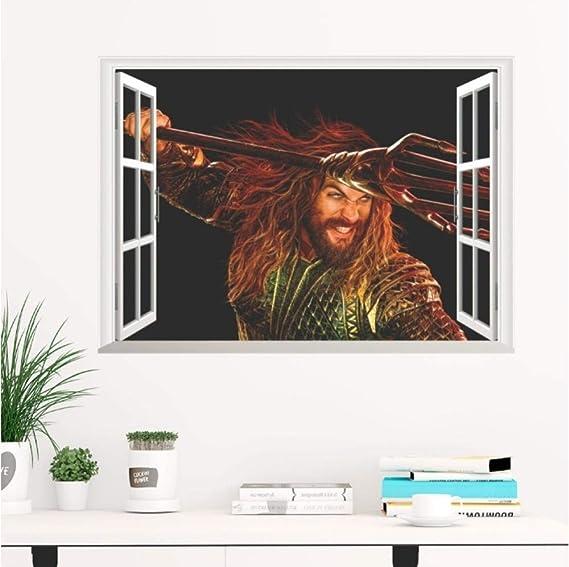 Amazon.com: JiuJiu.Yan 3D Vivid Aquaman Window Wall Decals ...