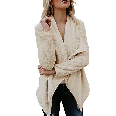 Amazon.com: Leoy88 Womens Warm Oversized Open Front Cardigan ...