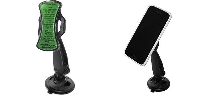 GripGo con Largo Brazo Soporte de Coche Funda para teléfono móvil Universal Parabrisas salpicadero GPS Soporte