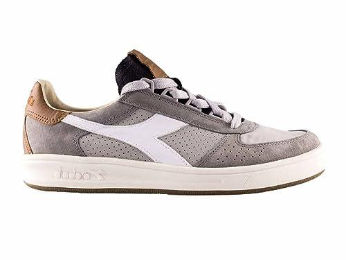 Ita 41 B Diadora Sneakers Pelle Heritage 2 Elite Uomo Grigio wBI4R
