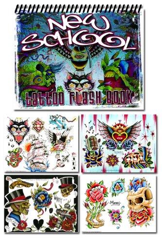 New School Various Artists Tattoo Flash Book (Old School Tattoo Flash)