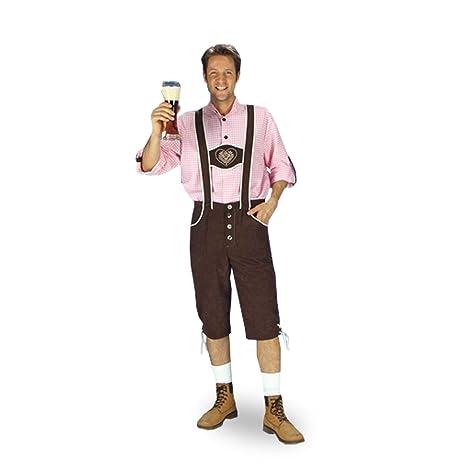 acquistare qualità perfetta prezzo limitato Trachten Lederhose - Pantaloni bavaresi da uomo per costume ...