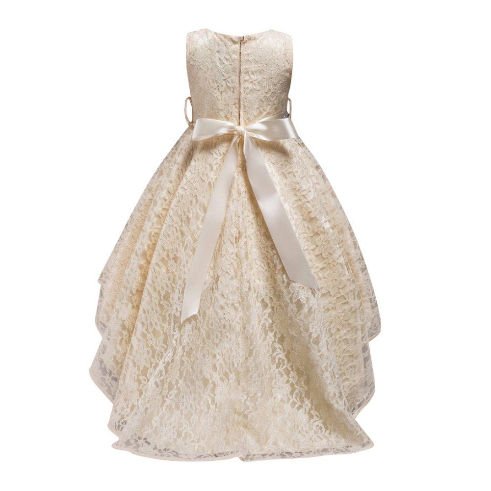 33866252893 Hougood Filles Robe Princesse Robe de Soirée Robe Formelle Diamant Robes De Bal  Cérémonie De Fête De Mariage Stage Performance Trailing Robe Âge 3-14 Ans   ...