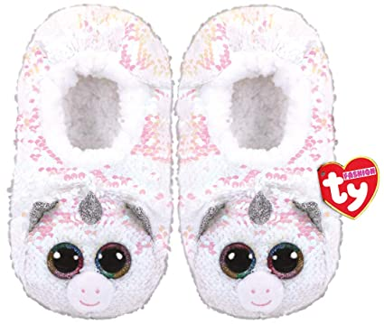 a27585efdd1d Amazon.com  TY Fashion Sequin Slipper Socks Diamond Small (11-13)  Toys    Games