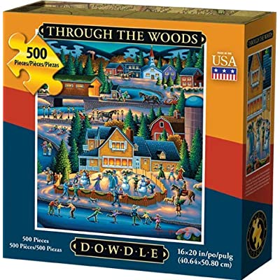 Dowdle Jigsaw Puzzle - Through The Woods - 500 Piece: Toys & Games