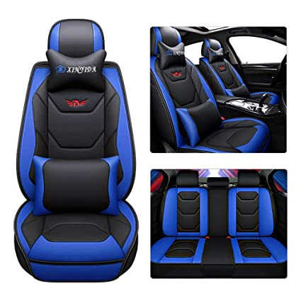 Enjoyable Amazon Com Sen Key Car Seat Covers Faux Leather All In One Pdpeps Interior Chair Design Pdpepsorg