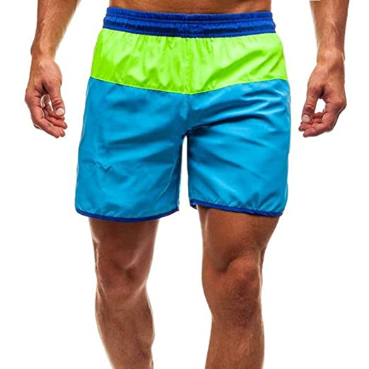 ea52d4980a Men's Swim Trunks Quick Dry Casual Beach Shorts Mesh Lining Swimwear Bathing  Suits (Blue,
