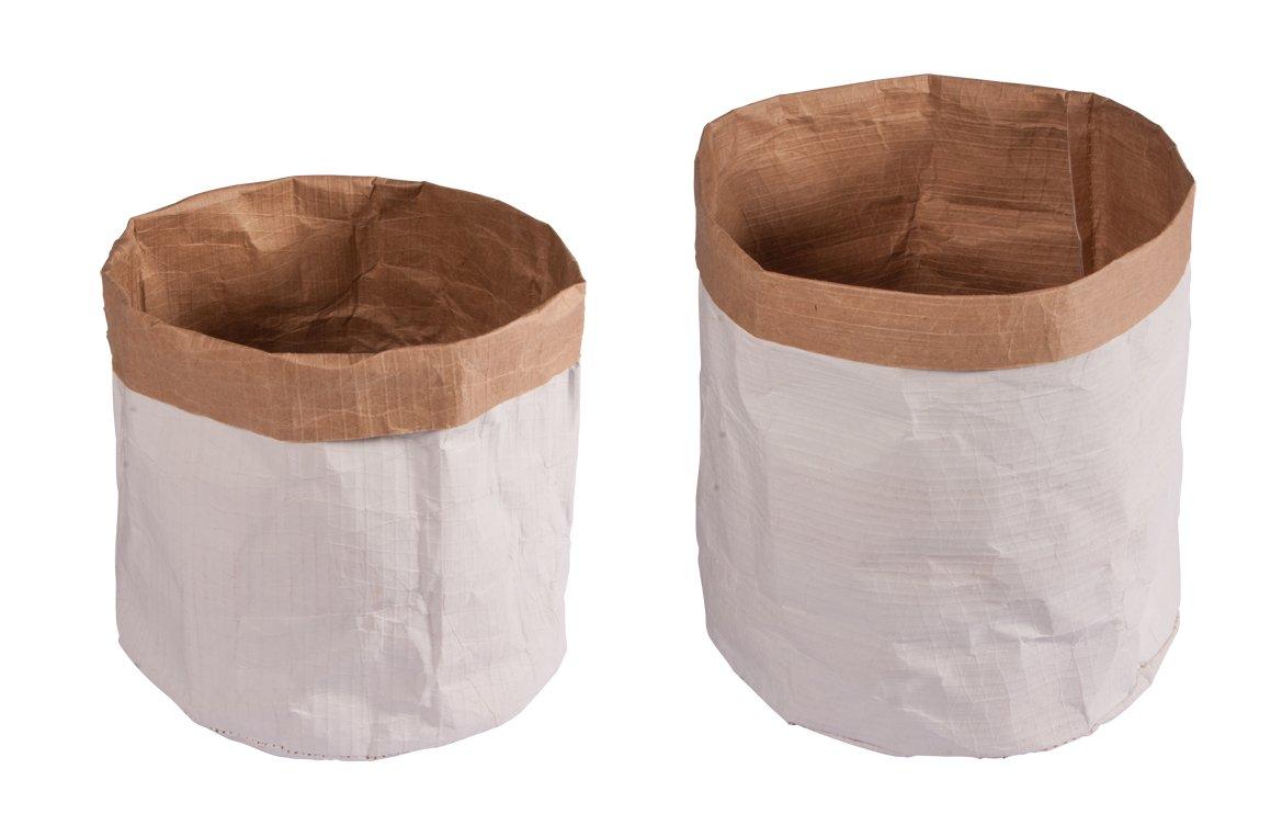 Rayher Papiersà¤cke Mit Rundem Boden, 13x14cm/11x10cm, Beutel 2Stück Sacchetti di Carta con Fondo Arrotondato, Bianco, 20 x 14 x 2.5 cm, 4 Unità Rayher Hobby 46219000