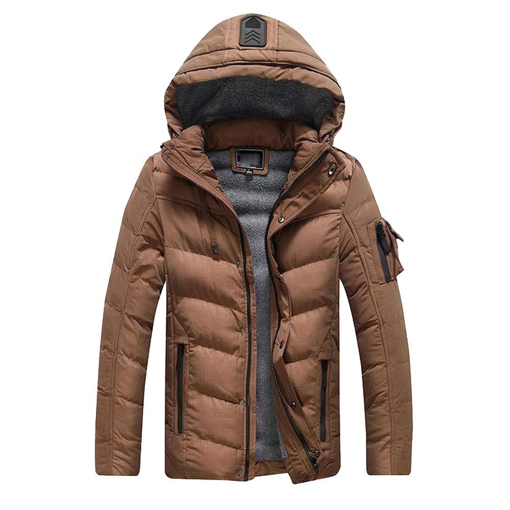 HUIHUI Winterjacke Herren Parka Camouflage Mantel Slim fit