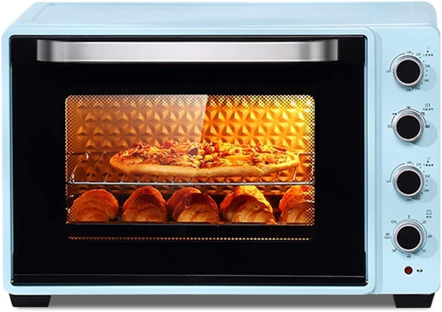 CJVJKN Electric Oven,75L-Large Commercial Countertop Oven Large Capacity - 2200W - Precision Temperature Control - Toast, Barbecue - Including Grilled Nets, Forks and Baking Pans
