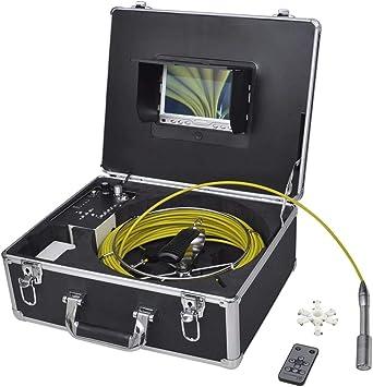 Opinión sobre vidaXL Cámara para inspección de tuberías 30 m con grabadora Herramienta Industrial DVR