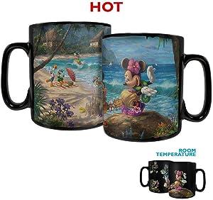 Disney – Mickey and Minnie in Hawaii Morphing Mugs Heat Sensitive Clue Mug – Full image revealed when HOT liquid is added - 16oz Large Drinkware