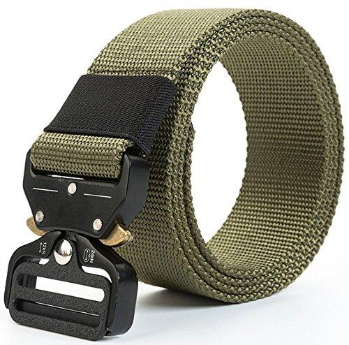 Osdream Mens Tattico Regolabile Militare Cinturone In Nylon Verde Militare