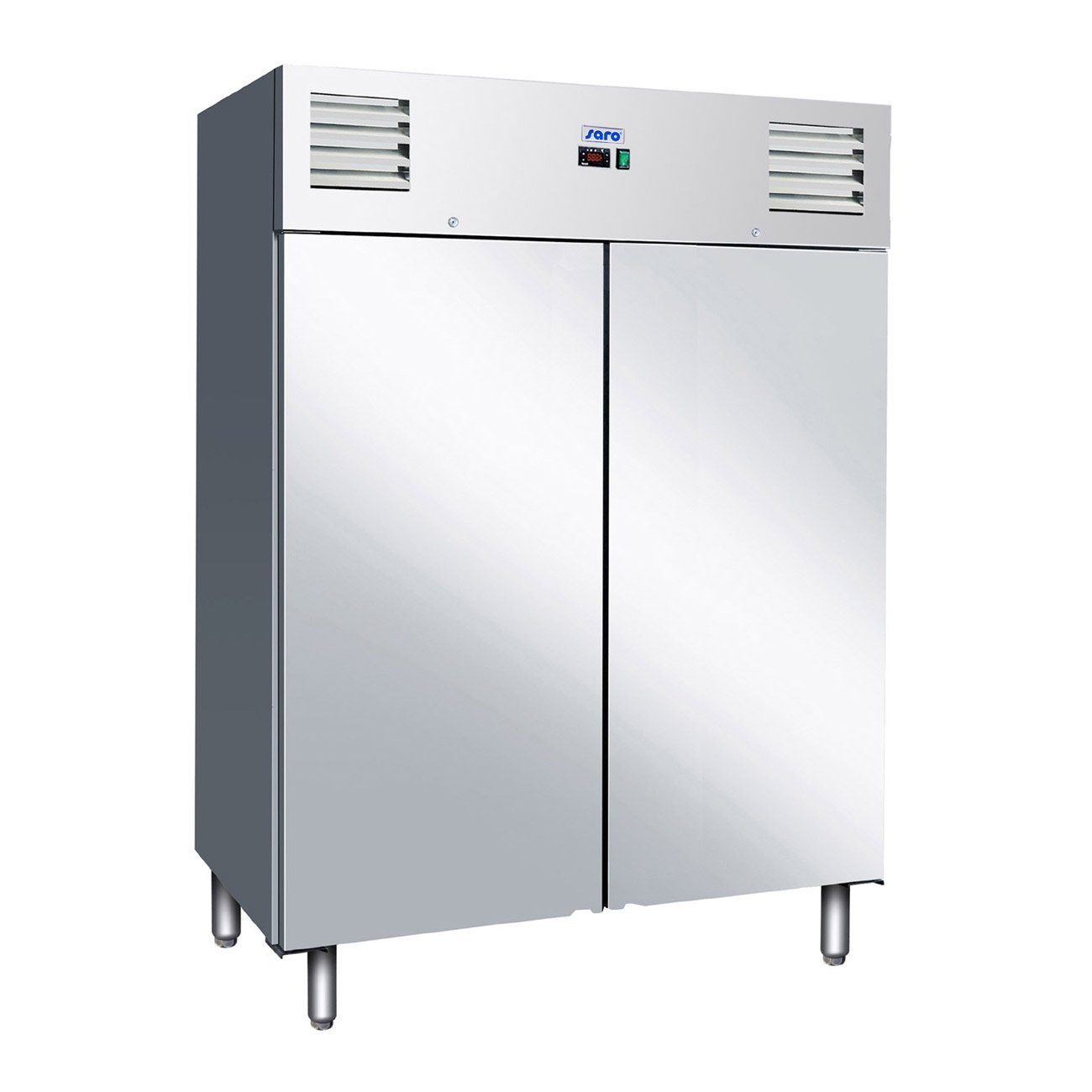 Armario congelador 2P acero inoxidable ventilado GN 140BTA-Saro ...