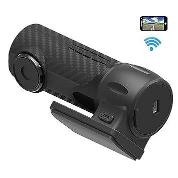 Wifi Mini Dash Cam Full HD 1080P 170 ° Granangular Lente De Conducción Grabador, Con