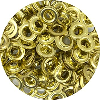 """Springfield Leather Company Solid Brass 3/8"""" Grommets 100 Pack"""