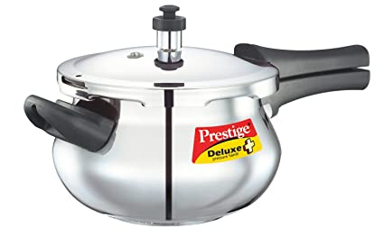 Prestige Deluxe Plus Mini Induction Base Stainless Steel Pressure Handi, 3.3 Litres