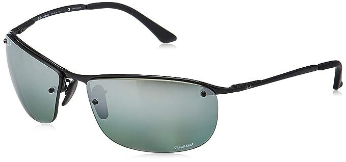 RAY-BAN 0Rb3542 Gafas de Sol, Shiny Black, 63 para Hombre