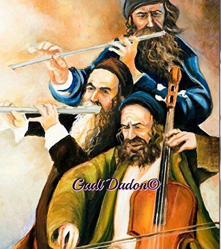 Oil Colors Art Paper Print Jewish judaica Art jewish kleizmers 33x49 cm Israel ()