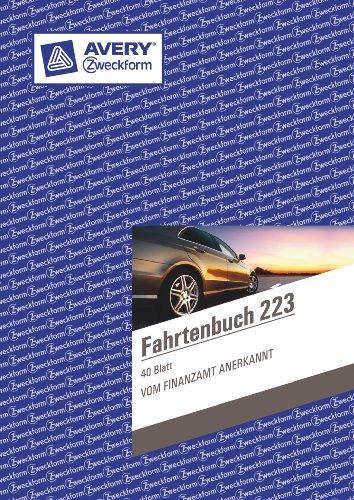 Avery Zweckform 223 Fahrtenbuch für PKW (A5, 40 Blatt) weiß