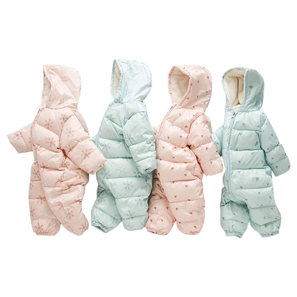 Bebone Newborn Baby Duck Down Snowsuit Romper Kids Winter Coat Hooded Outerwear