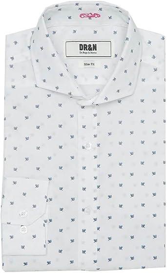 Camisa DRN Dibujitos Blanca XL: Amazon.es: Ropa y accesorios