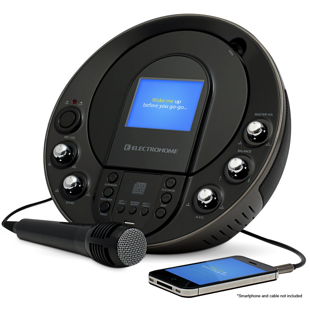 Electrohome EAKAR535 Portable Karaoke CD+G/MP3G Player Speaker System with 3.5 Screen, USB and MP3 Input