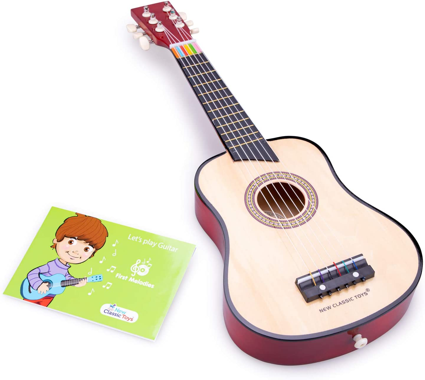 New Classic Toys Toys-10304 Guitarra para niños, Color marrón, 3-5 ...