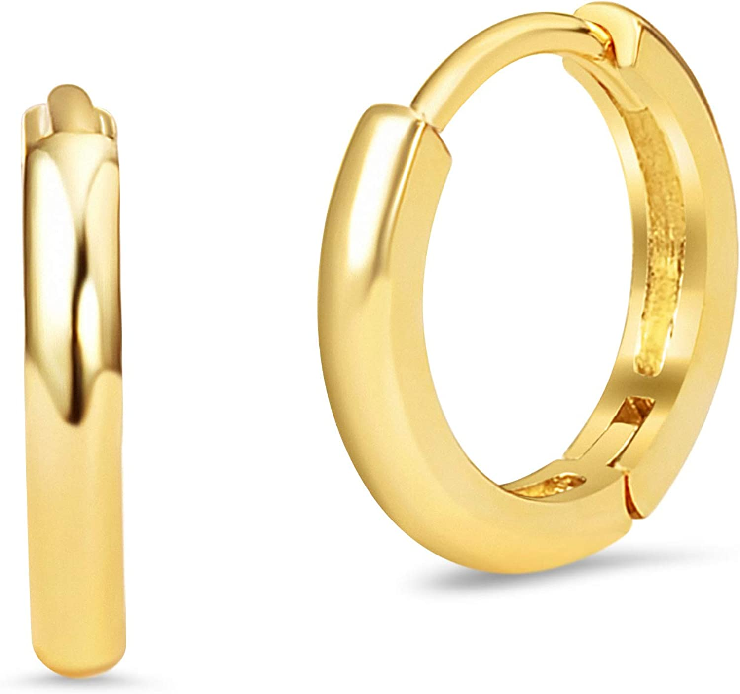 Details about  /14K Yellow Gold Madi K Children/'s 15 MM Hoop Earrings MSRP $114