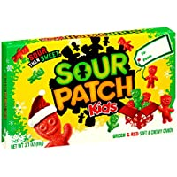 12 Pack Sour Patch Kids Green & Red Christmas Holiday Gummy Candy 3.1 Ounce