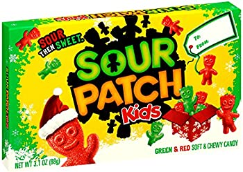 12 Pack Sour Patch Kids Green & Red Christmas Holiday Gummy Candy