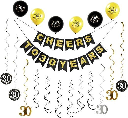 Amazon.com: Kit de decoración para fiesta de 30 cumpleaños ...