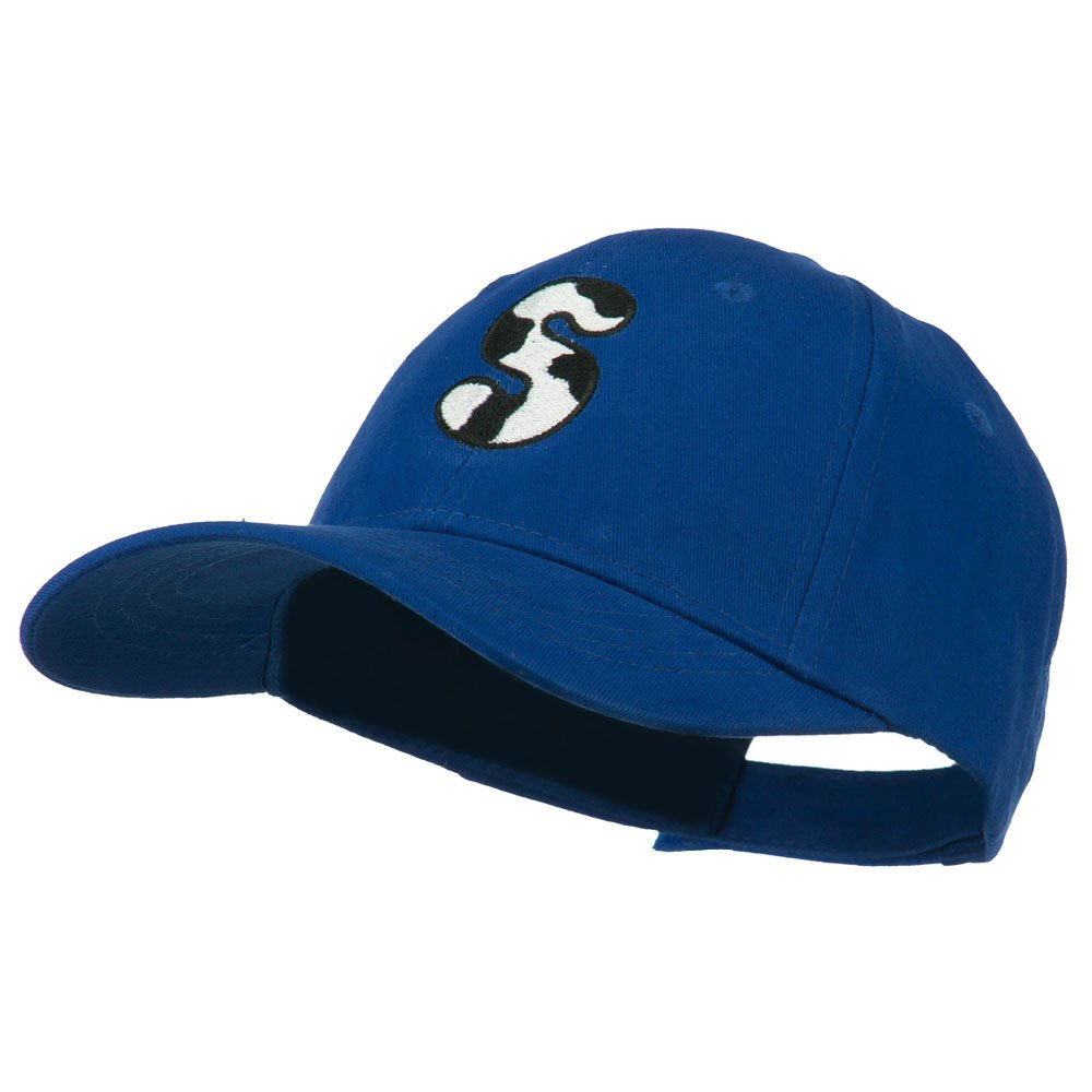 e4Hats.com Holstein Alphabet Letter NZ Embroidered Youth Brushed Cap