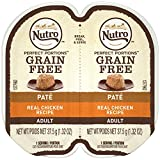 Nutro Perfect Portions Pate Real Chicken Wet Cat Food Tray, 2.65 Ounces (24 Twin Packs)