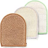Body Scrub Exfoliating Gloves Set for Men&Women. Use This Shower Scrubber Skin Brush Glove as a Cellulite Massager Loofah, Foot Scrubber for Dead Skin, Ingrown Hair Remover or Bath Exfoliator Sponge