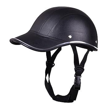 SYMTOP Casco de motocicleta estilo béisbol Plaid de media cara abierta seguridad casco duro de seguridad