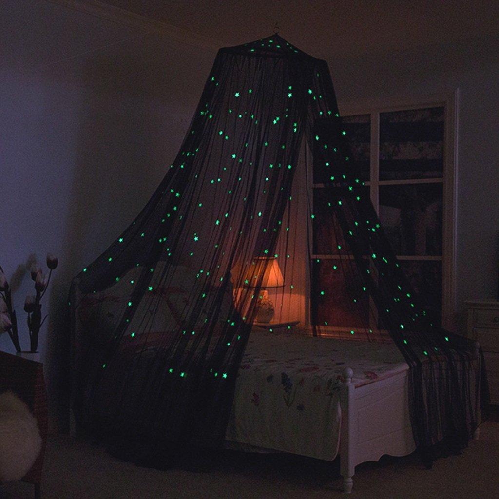 WLHW Moskitonetze Moskitonetze mit Lichtern Bed Canopy Netting Outdoor Urlaub Reisen Chambre des Enfants D'intérieur