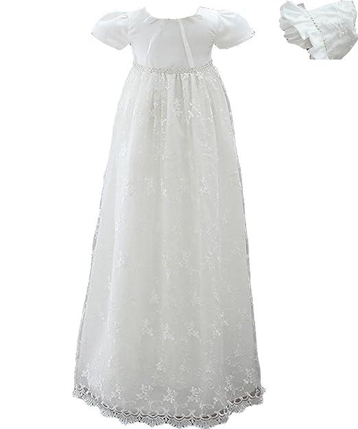 AHAHA Vestidos Largos del Bautizo de Las Muchachas del Bebé Vestido Formal del Bautismo de la