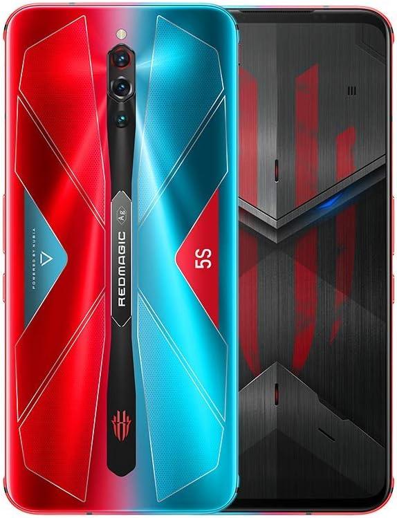 Nubia RedMagic 5S Gaming Phone 12GB RAM + 256GB ROM/Smartphones con Qualcomm Snapdragon 865 / 144Hz: Frecuencia de actualización 6.65 ″ Pantalla AMOLED/Cámara Triple de 64MP (Pluse