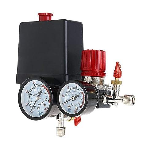 Presostato Compresor De Aire Válvula de control 90 – 120PSI + regulador de presión