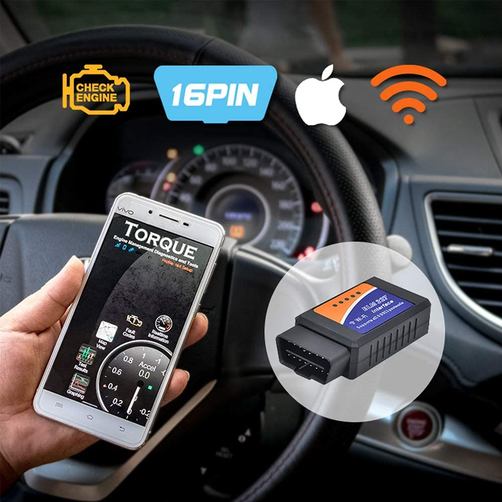 iOS OBD2 Scanner Android OBD2 Scanner OBD Reader with WiFi Version OBD2 Code Reader Randalfy New Version Car OBD2 Scanner OBD2 Reader Check Engine Diagnostic Tool Compatible with iOS /& Android